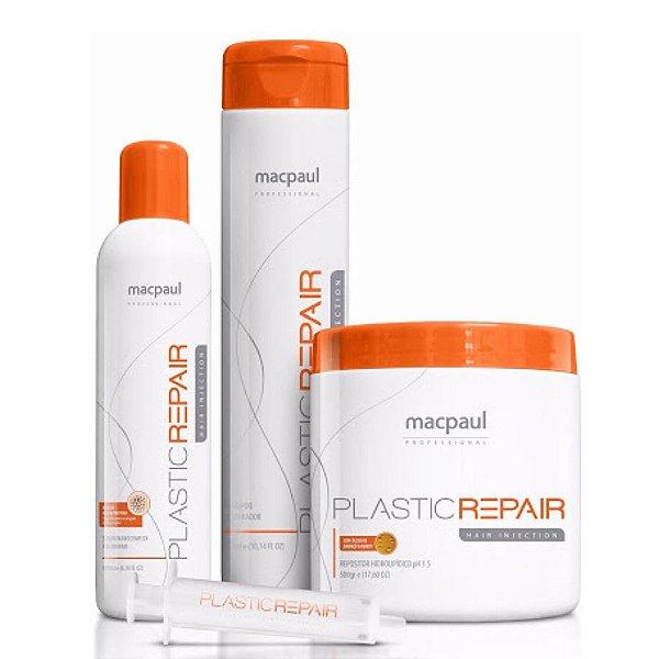 Mac Paul Kit Plastic Repair Hair Injection (03 Itens)