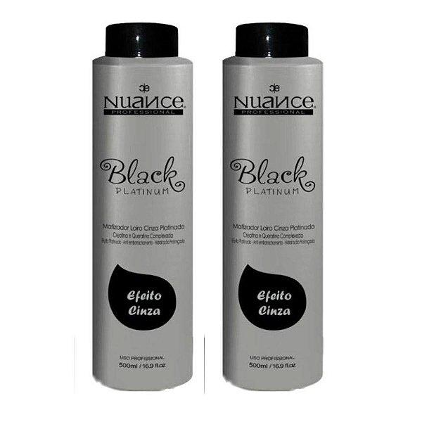 Kit 2 Mascaras Matizadoras Black Platinum Matizador Black Nuance