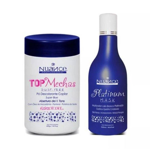 Kit Matizador Platinum Mask + Pó Descolorante Nuance