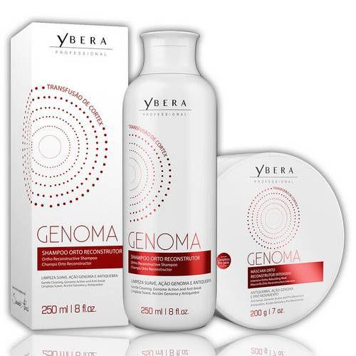 Kit Ybera Shampoo E Máscara Manutenção Genoma