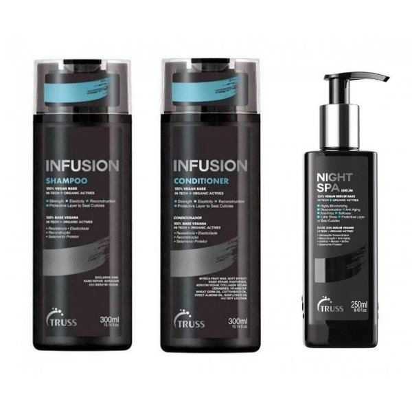 Kit Truss Infusion Shampoo + Condicionador 2x 300ml + Night Spa 250ml (3 Produtos)