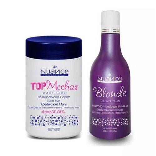 Kit Matizador Blonde Platinum + Pó Descolorante Nuance