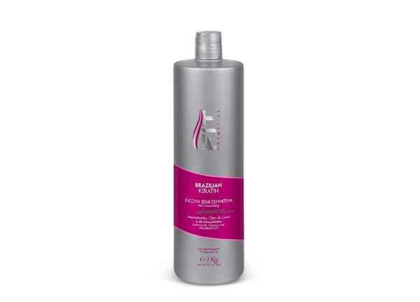 Fit Cosmeticos Brazilian Keratin Escova Semi Definitiva 1L