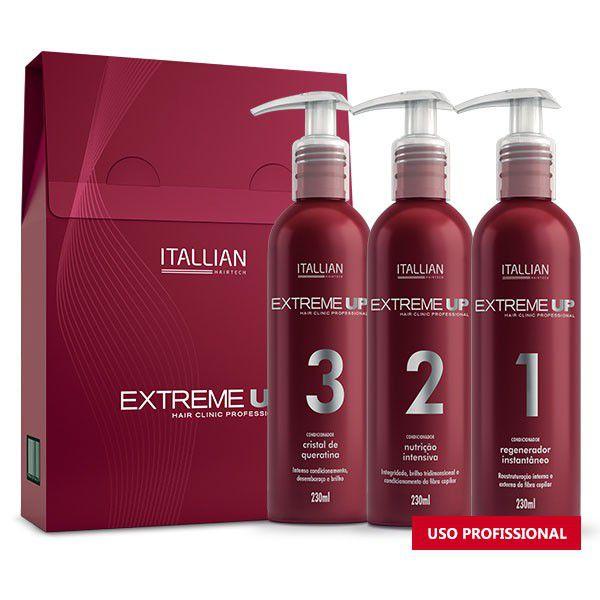 Kit Extreme Itallian Up Sos Reconstrução Anti Emborrachamento 3x230ml