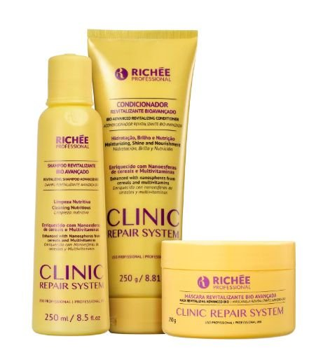 Kit Richée Professional Clinic Repair System Tratamento Profundo (3 Produtos)