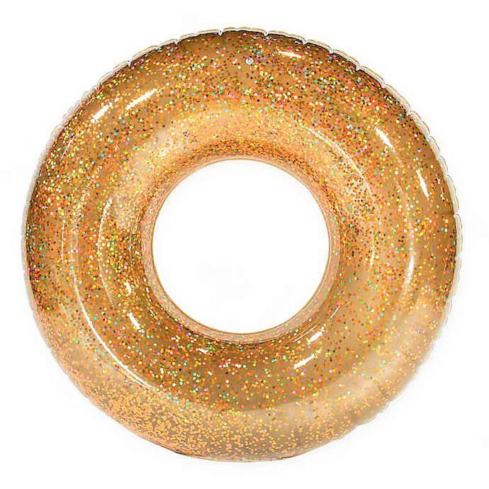 Boia Gigante Circular Dourada com Glitter