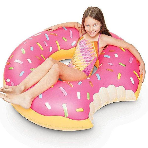 Boia Donut Grande Rosa 90 cm Inflável