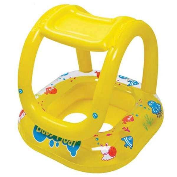 Boia Infantil Amarela com Cobertura e Assento Bebê