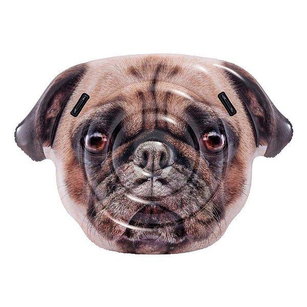 Boia Colchão Cachorro Pug Gigante Divertida para Piscina