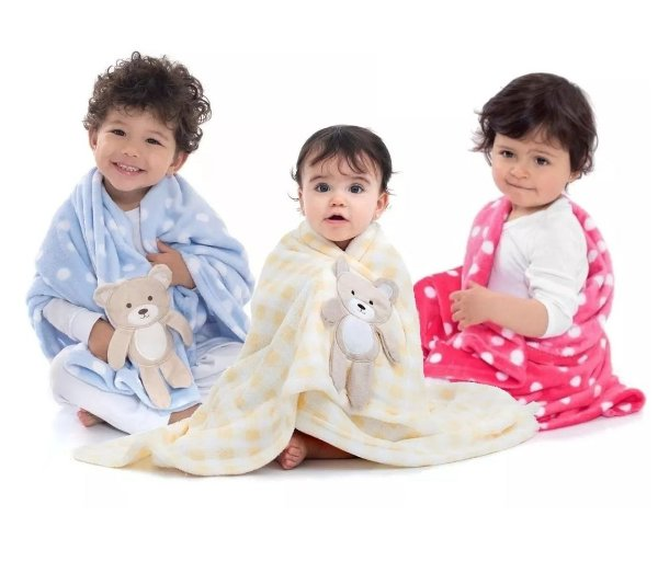 Manta Cobertor para Bebê Soft Microfibra