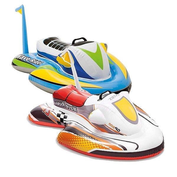 Boia Infantil de Piscina Bote Jet Ski Inflável