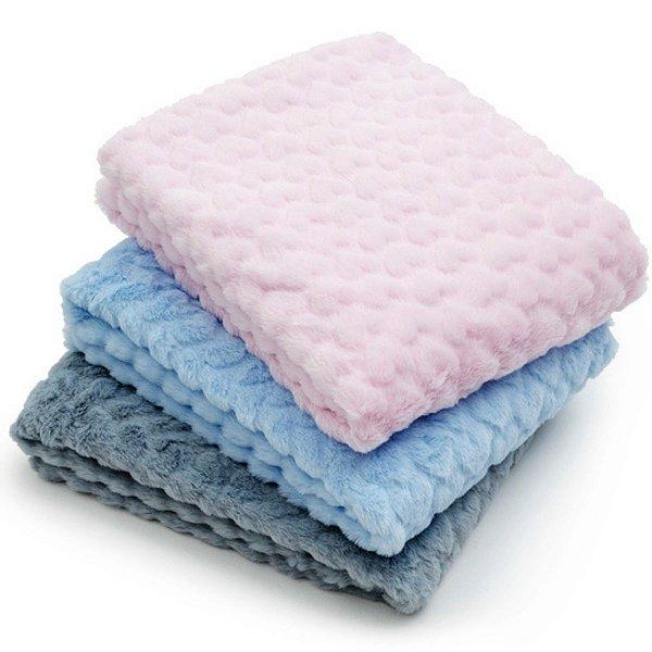 Manta Cobertor Para Bebê Dupla Face Microfibra Corações