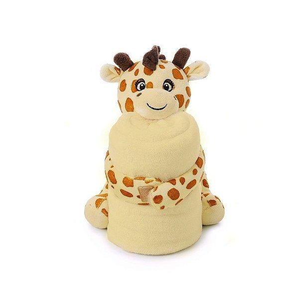 Manta Cobertor Com Pelúcia Para Bebê Microfibra Girafinha