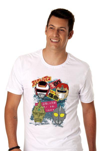Camisetas super-heróis anos 80 - masculina