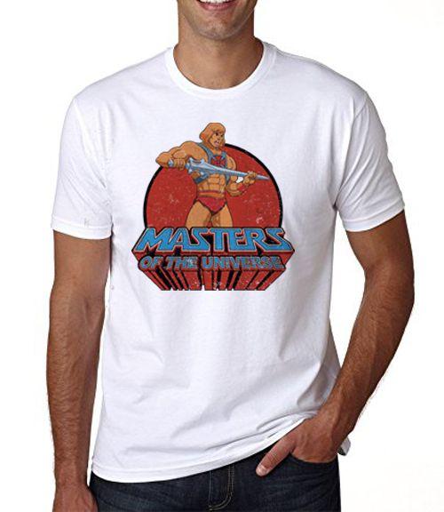 camiseta branca - Masculina - He-man