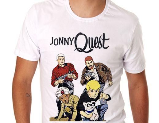 Camiseta branca - Masculina - Jonny Quest