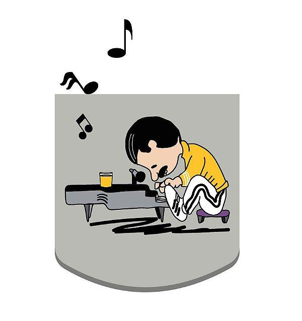 Camiseta Freddie Mercury Charlie Brown