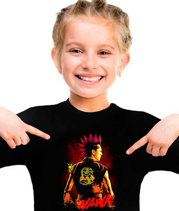 Camiseta cobra kai Hawk infantil