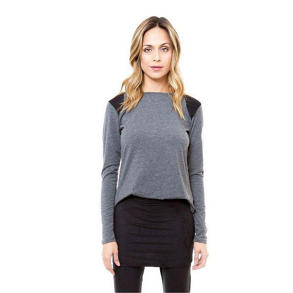 0f439d90a Blusa Malha Montaria Mescla - Comprar Roupas Online blusas