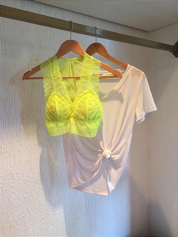 Combo Podrinha Amarelo Neon