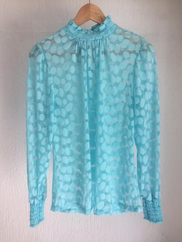 Blusa Alexa Azul Turquesa