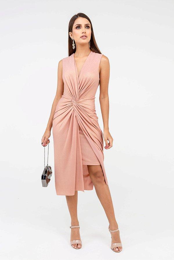 Vestido Curto Glam - Rosé