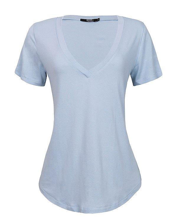T-shirt Ana - Azul Delavê