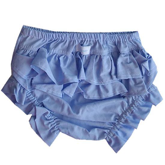 Calcinha tapa fralda azul bebê