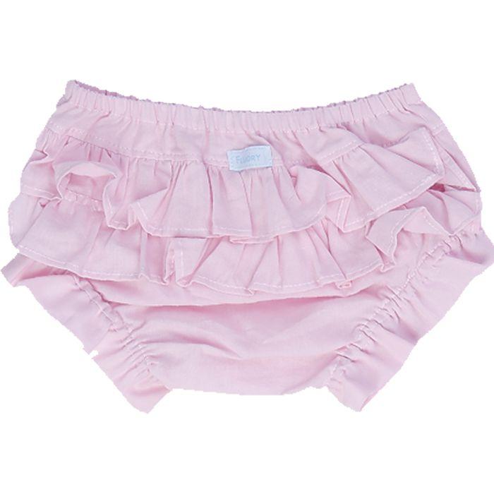 Calcinha tapa fralda rosa bebê