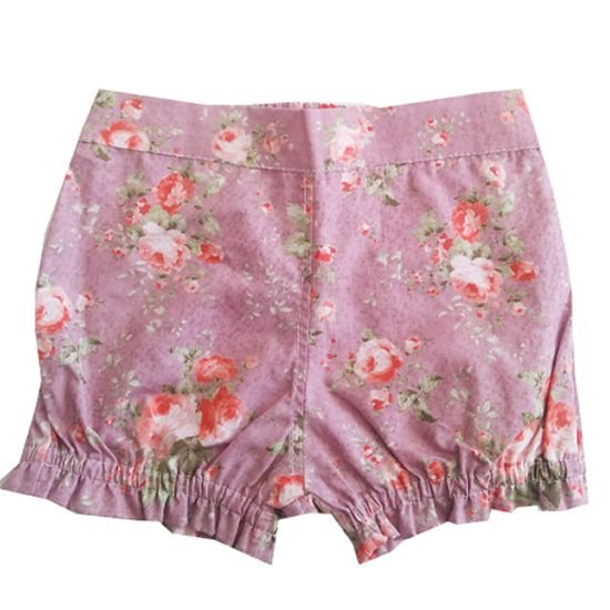 Short floral lilás