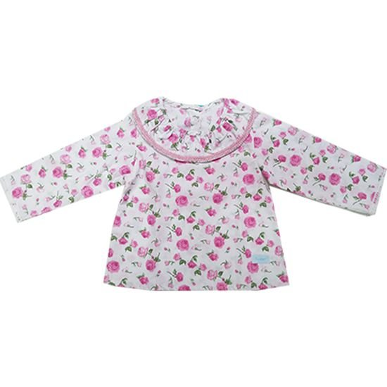 Camisa golinha floral rosa