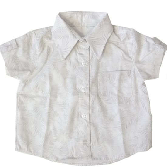 Camisa floral cinza