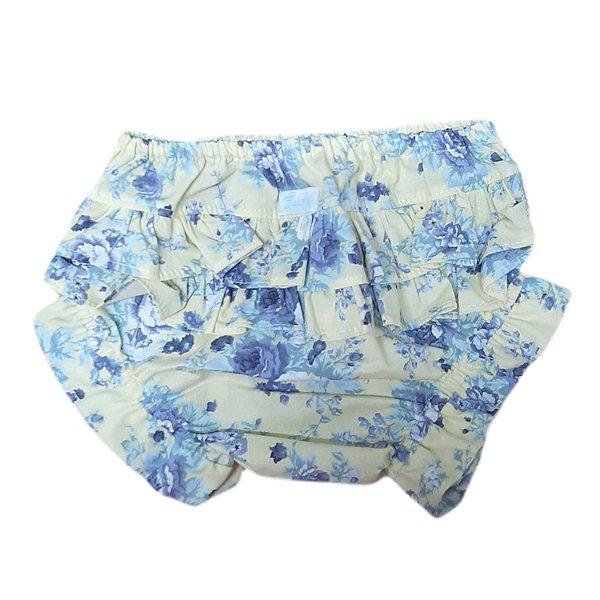 Calcinha tapa fralda floral azul