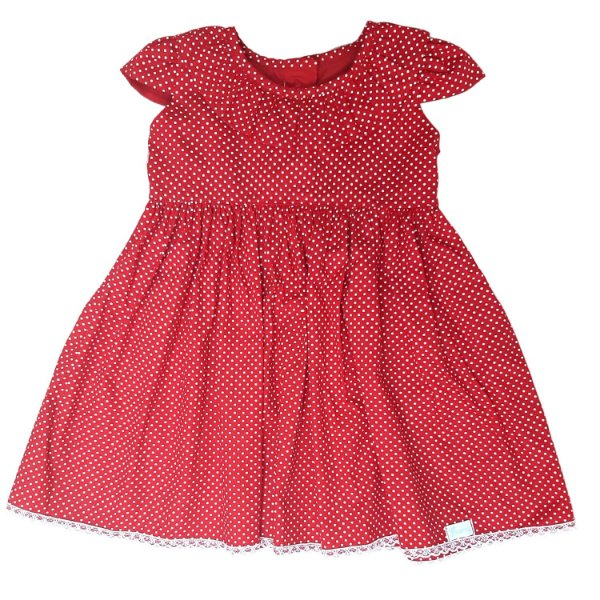 Vestido poá vermelho Cici