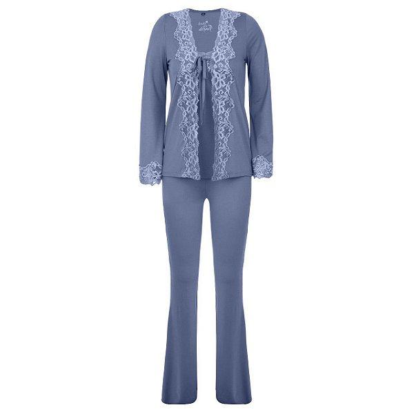 Conjunto Pijama Adulto Azul