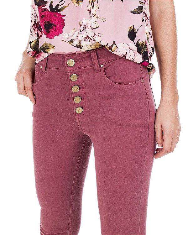 Calça Maxi Flare Rosa Antigo