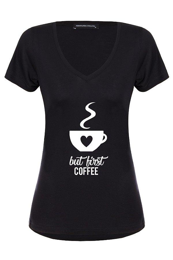 T-shirt Coffee Black