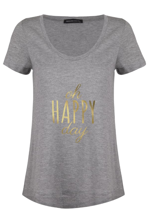 T-shirt Happy Grey