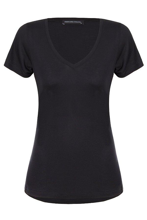 T-shirt Basic Black V