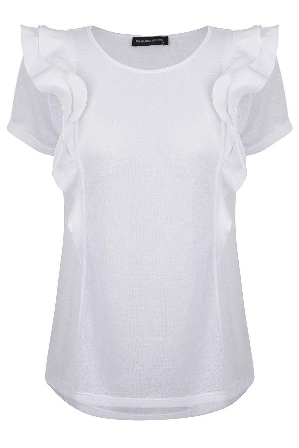 T-shirt Babado White