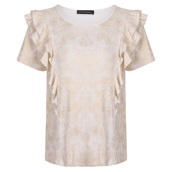 T-shirt Babado Gold