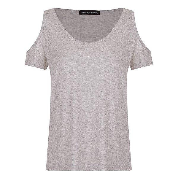 T-shirt Barbára Cinza