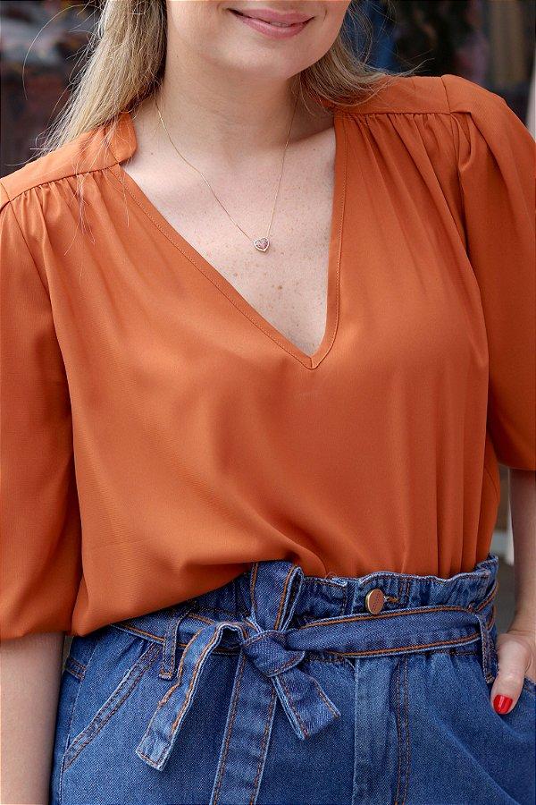 Camisa Laura Ferrugem