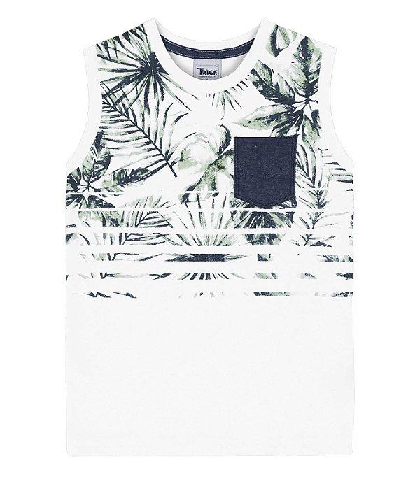 01f51b6348 Camiseta Regata Branca com Bolso - Moda Infanto Juvenil - Compre em ...