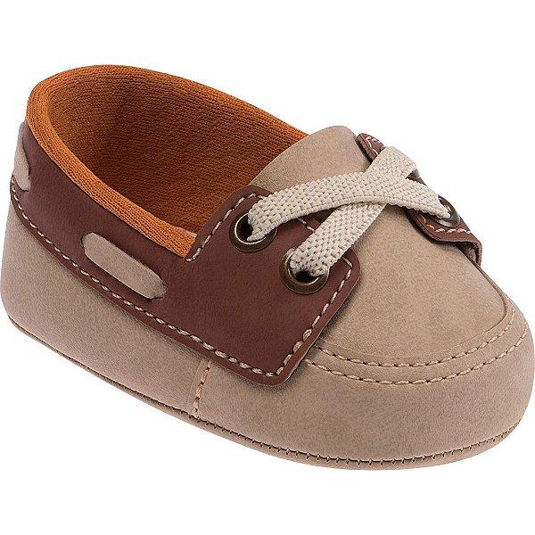 c6a36a7164 Sapato Mocassim para Bebê Bege e Marrom Pimpolho - joopeebabykids