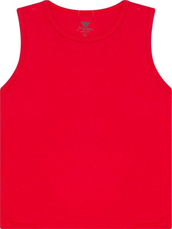 fef8c0f1ec6b3 Camiseta Regata Infantil Vermelha Marlan - joopeebabykids