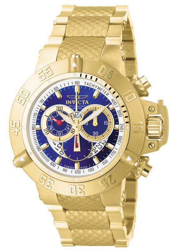 Relógio Invicta Subaqua 5404 Banhado Ouro 18k Cronografo 50mm