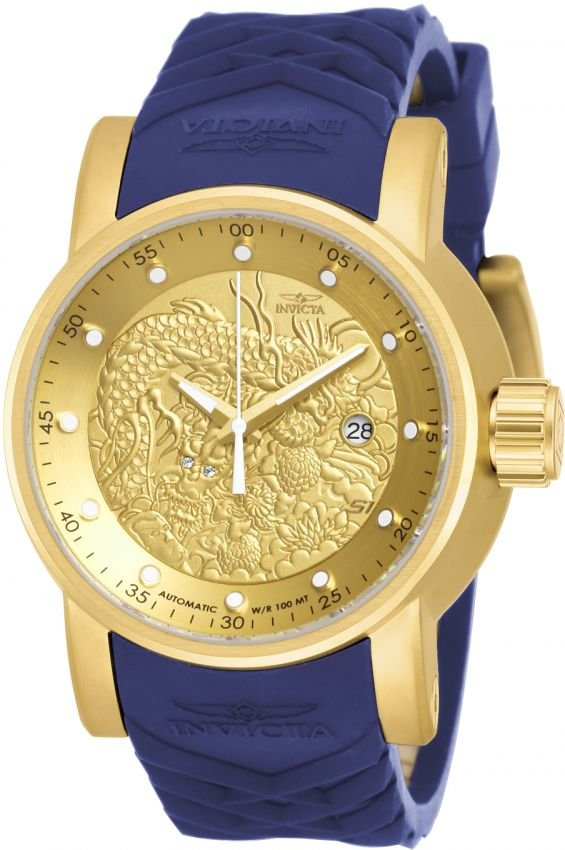 Relógio Invicta S1 Yakuza 18215 Automático 48mm Banhado Ouro 18k
