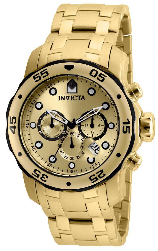 Relógio Invicta Pro Diver 80070 Cronografo Banhado Ouro 18k