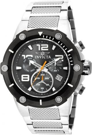 Relógio Invicta Speedway 19528 Prata Aço Inox 51mm Suiço Cronografo